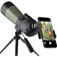 Gosky 20-60x60 HD Telescopio Terrestre con trípode, bolsa de transporte y adaptador para teléfono inteligente - BAK4 45…