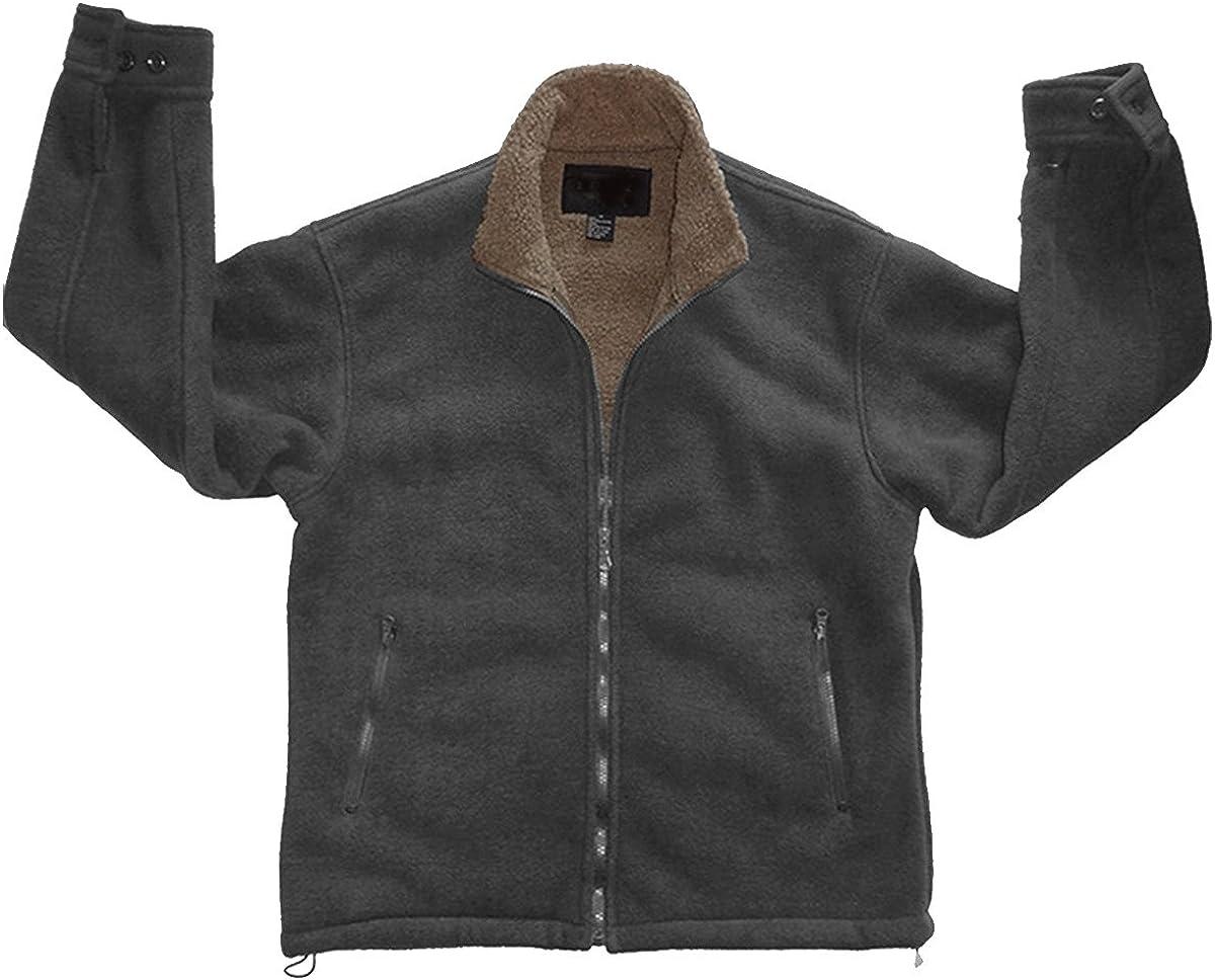 Mens Polar Fleece Sherpa Lined Zip Up Jacket Woodland Supply Co