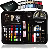 SEWING KIT, Over 80 Premium Sewing Supplies, 38 Spools of Thread - 20 Most Useful Colors of Threads & 18 Multi Colors - Mini Travel sewing kit, Beginners Sewing Kit, Emergency sewing kit (Premium)