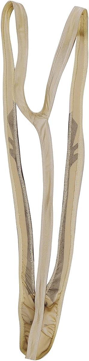 iiniim Mens Bodysuit Mankini Thong Underwear Costume Lingerie Fancy Dress Stag