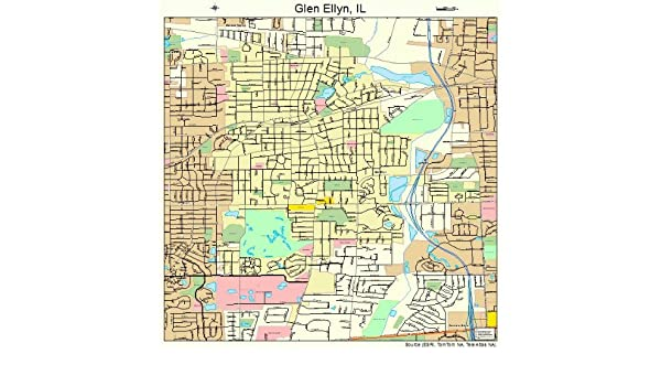 Glen Ellen Illinois Map.Amazon Com Image Trader Large Street Road Map Of Glen Ellyn