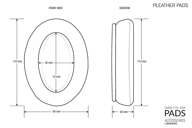 Fostex ATH P/úrpura Philips HifiMan Brainwavz Reemplazo Espuma de Memoria Almohadillas Para Grande Sobre El O/ído Auriculares Para AKG