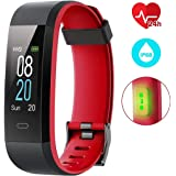 EUMI Color Screen Fitness Tracker Heart Rate Monitor Activity Tracker Wristband Watch Waterproof IP68 with 14 Training Modes/Weather Forecast/Pedometer/Sleep Monitor/Messages for Women Men Kids