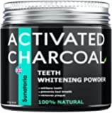 Activated Charcoal Teeth Whitening Powder – Coconut Teeth Whitener – Effective Remover Tooth Stains for a Healthier…