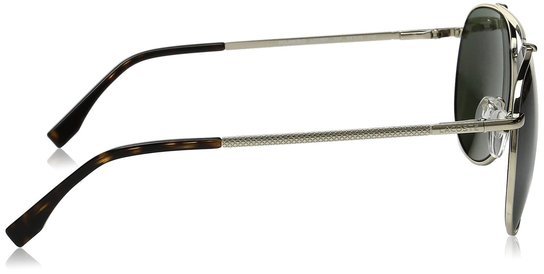 b7499422a00e Amazon.com  Lacoste Men s L177SP Polarized Aviator Sunglasses Gold 59 mm   Clothing