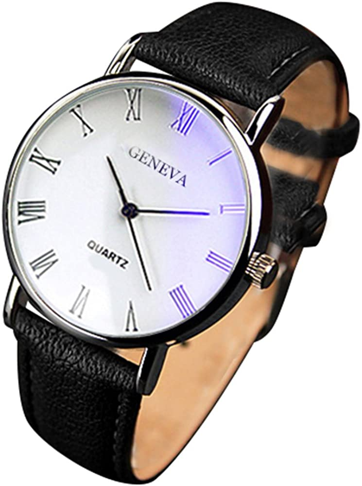 Yazole - Blu-ray números romanos reloj de pulsera analógico de ...
