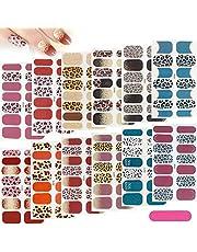 Haihaz, [12 vellen 168 Pcs] luipaard print zelfklevende nail art sticker,Nagel vijlen Nail Art Sticker Ontwerpen,zelfklevende nagelfolie, Full Wraps Nagellakstickers,Zelfklevende Nagelkunststickers