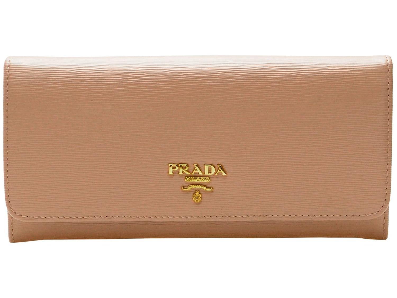 (プラダ) PRADA 財布 長財布 二つ折り ベージュピンク レザー 1MH132 アウトレット [並行輸入品] B01LZHFEIJ
