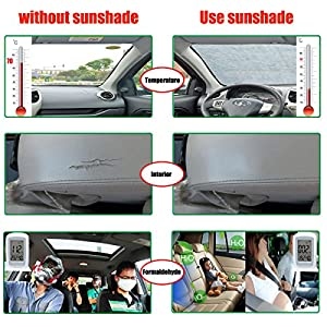 Car Windshield Cover Vehicle Sun Shade with Thickened Cotton Aopet Car Sun Screen Protector Keep Your Auto Cool Auto Ice Frost Snow Windproof Protection All Weather Fits for Most of Cars