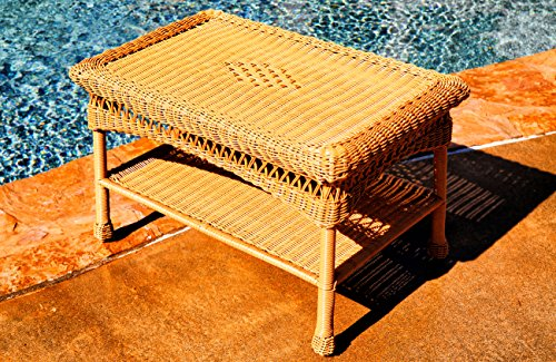 Tortuga Outdoor Portside Coffee Table - Amber