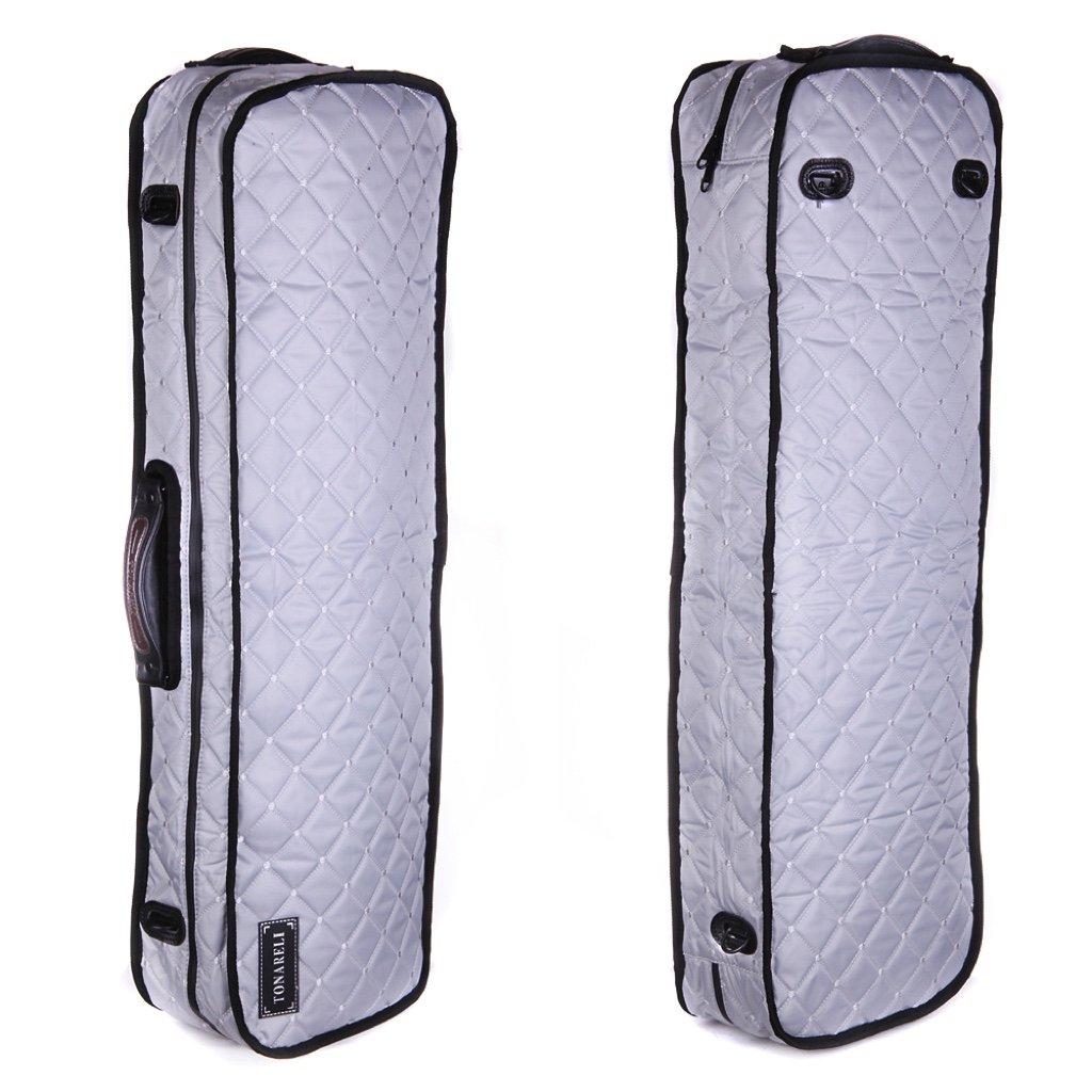 Tonareli Viola Case Cover for oblong fiberglass cases - Silver