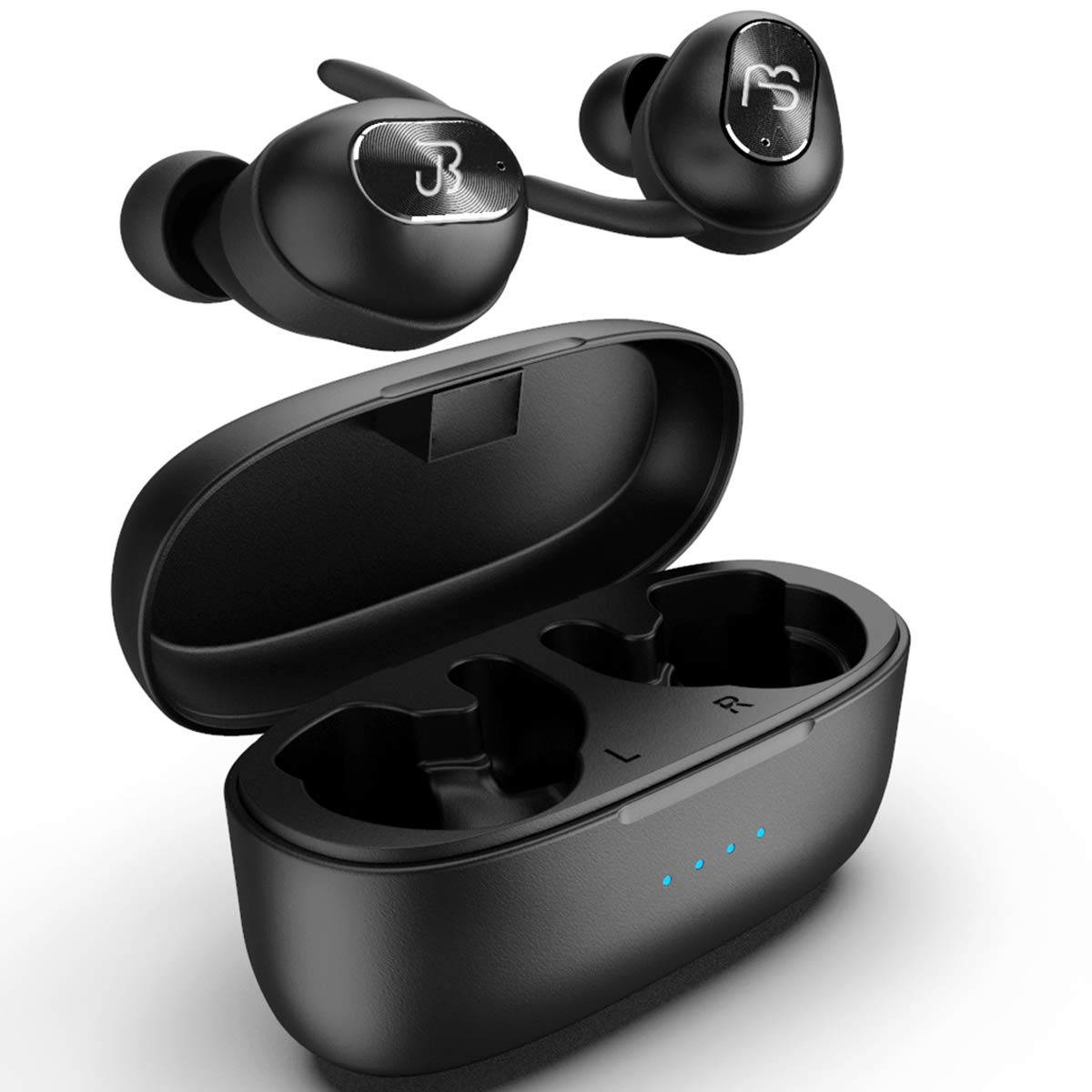 Wireless Earbuds,Bluetooth Headphones 5.0 Deep Bass HiFi Stereo Sound Earphones 16H Playtime with Charging Case and Built in Mic for Sports Running