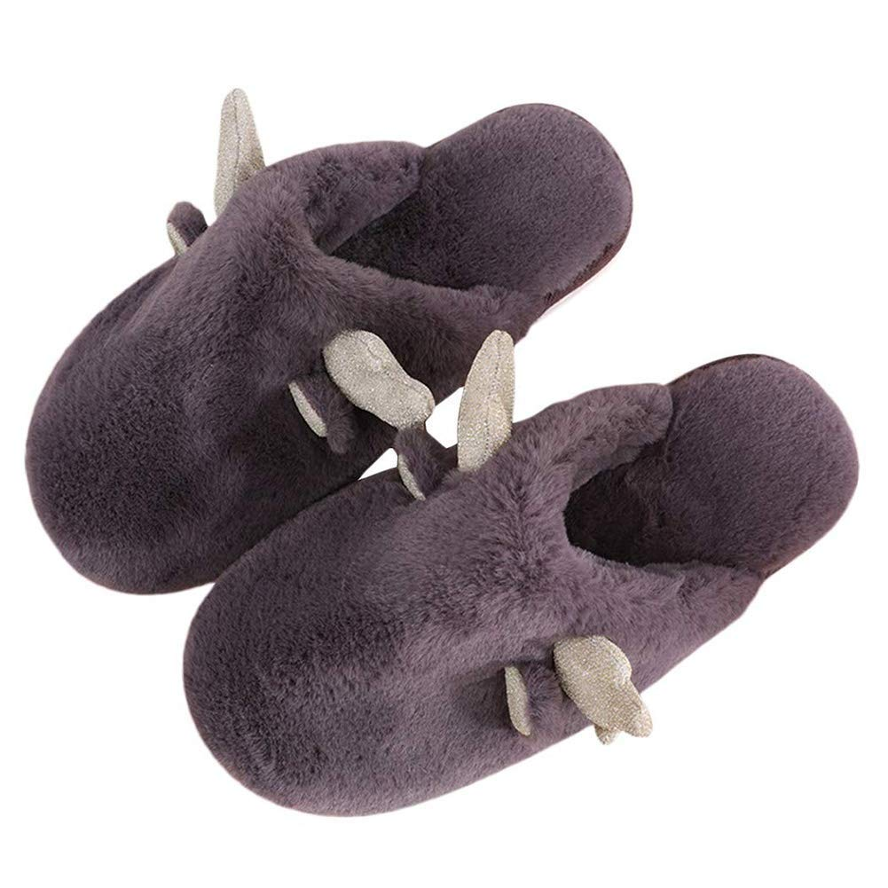 EU 36//37 Brown XTMA Slippers Indoor Mens and Womens Slippers Comfortable Non-Slip Memory Foam Non-Slip Home Slippers