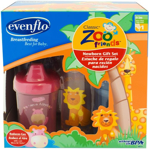 Amazon.com : Evenflo - Zoo Friends Decorated Bottle Gift Set, : Baby ...