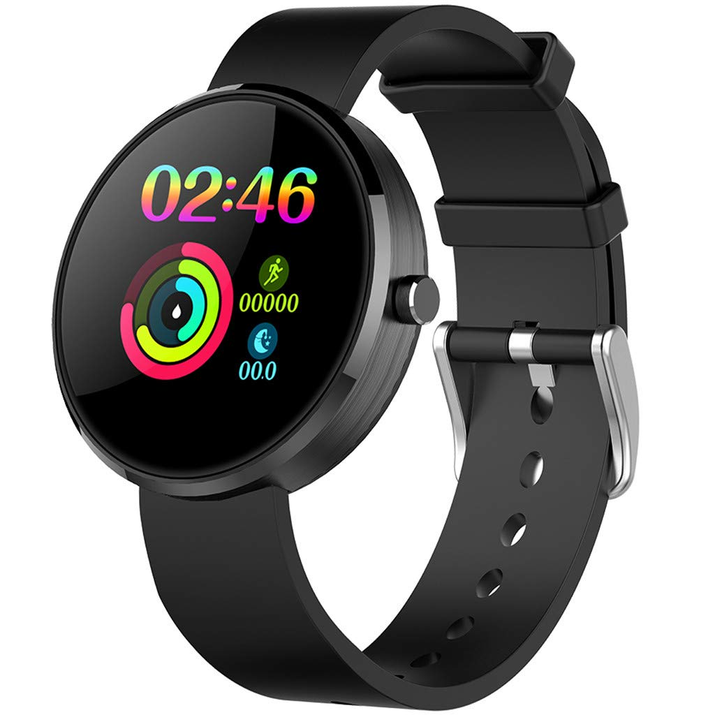 YNAA for Android iOS, Sport Smart Watch, Fitness Calorie Heart Rate Monitoring Physiological Cycle Reminder Smart Bracelet (C)