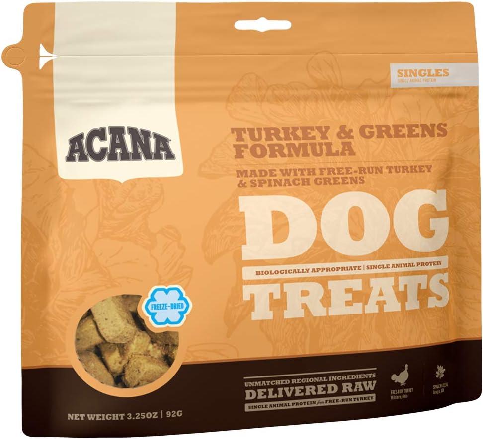 ACANA Singles Limited Ingredient Freeze-Dried Dog Treats, Turkey & Greens, Biologically Appropriate & Grain Free
