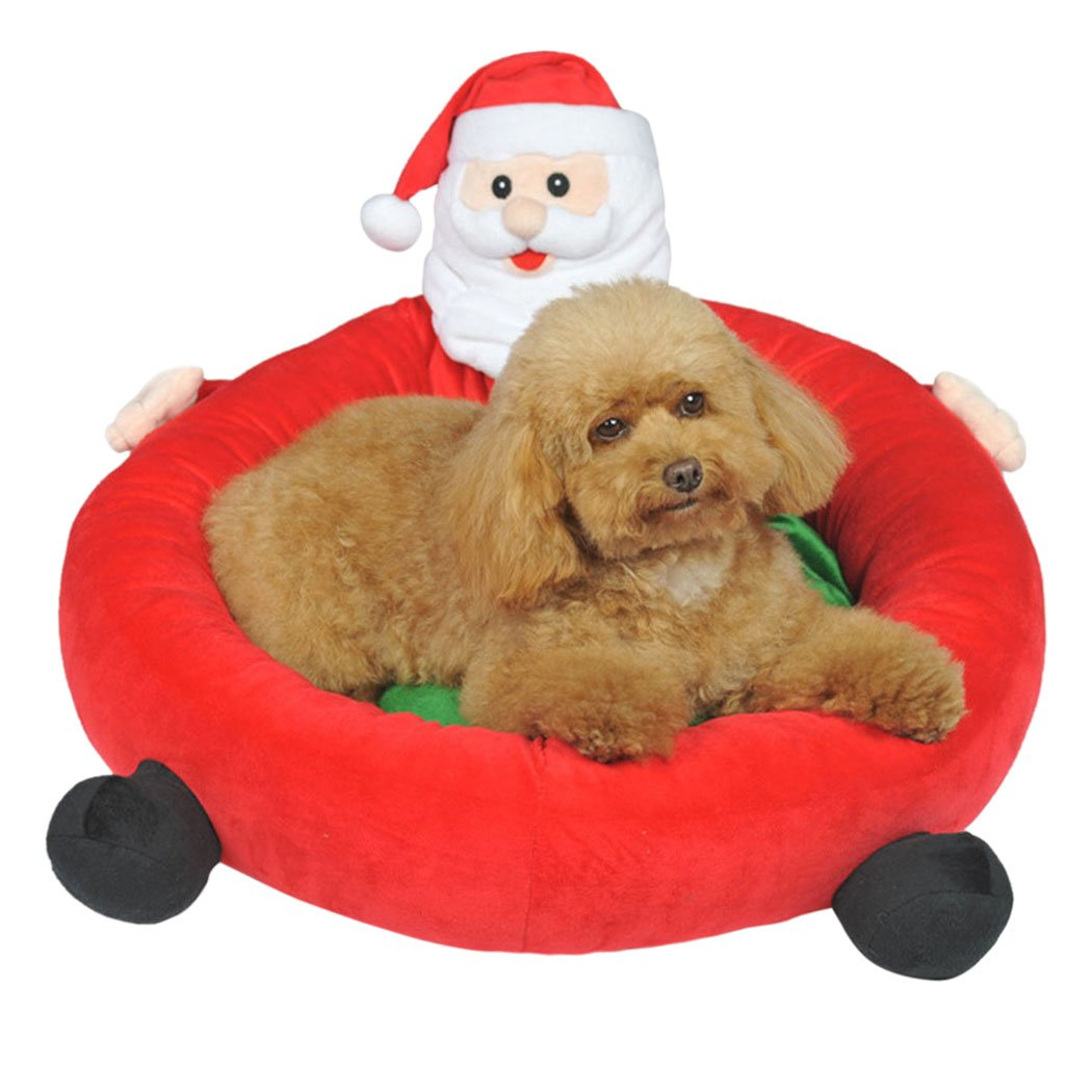 Amazon.com : Legendog Christmas Dog Bed, Dog Nest Detachable Washable Santa Claus Cartoon Pet Bed for Puppy Cat : Pet Supplies