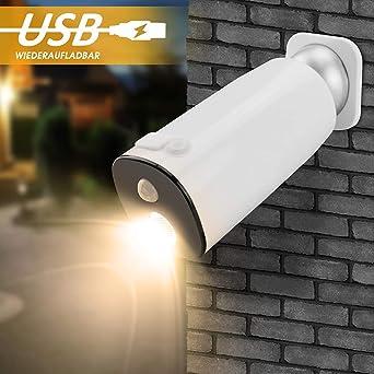 Wandleuchte Mit Sensor Wiederaufladbare Led Aussenlampe Sensor
