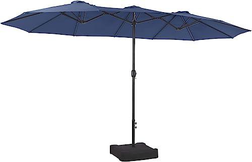 PHI VILLA 15ft Patio Umbrella Double-Sided Outdoor Market Extra Large Umbrella
