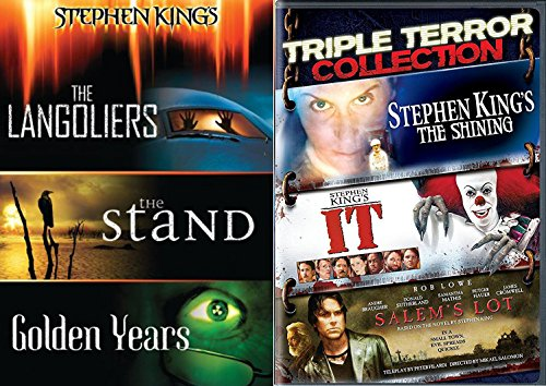 It Stephen King Collection + The Langoliers / The Stand / Golden Years / The Shining / Salem's Lot DVD set the Master of Horror Feature 6 movie bundle