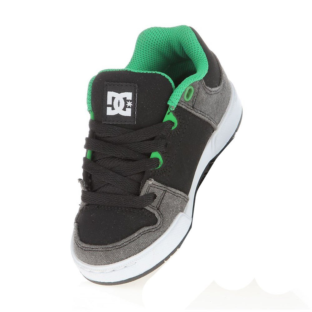DC Kids Turbo 2 Sneaker (Little Kid/Big Kid),Black/Green,1.5 M US Little Kid by DC