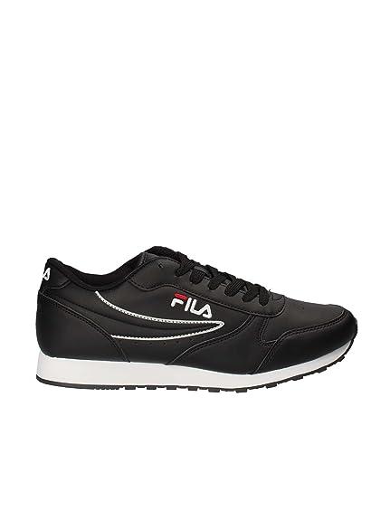 Fila Scarpe Uomo Sneakers Orbit Low in Pelle nera 1010263 25Y