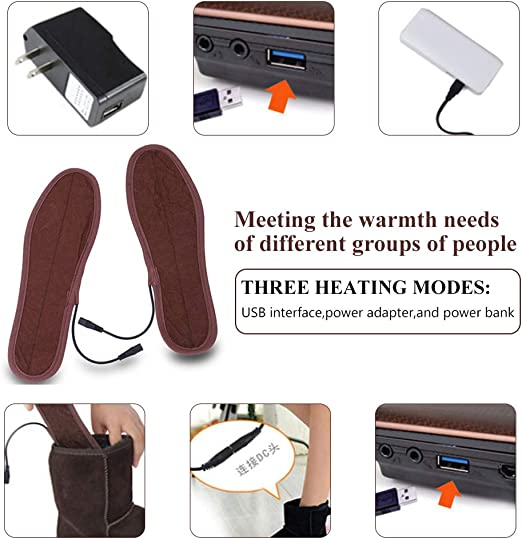 USB Rechargeable Heating Thermal Insole Separate Warm Foot Treasure Separate Foot Warmer Cushion Boot Shoes QUUY Heated Insole