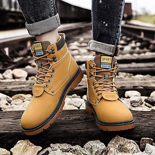 Summer Baskets Homme Happy day Jaune Boots Hiver De Antidrapantes Impermable Grande Rsistant Hommes Slip Chaussures Outillage Taille Extrieur Pour Tech On Shoes Martin qr0XxtXd