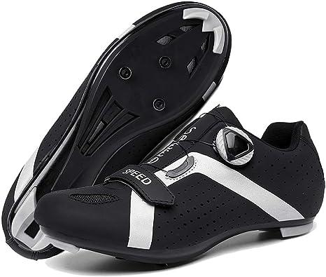 Zapatillas de Bicicleta Carretera Hombre Mujer, Calzado de Bicicleta Montaña Antideslizantes Transpirables para Ciclismo de Carretera: Amazon.es: Deportes y aire libre
