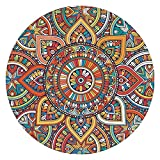 YXGH- Round Carpet Coffee Table Living Room Personality Fashion Household Yoga Meditation Pad Modern Simple Northern Europe Rug ( Color : #b , Size : 80cm )