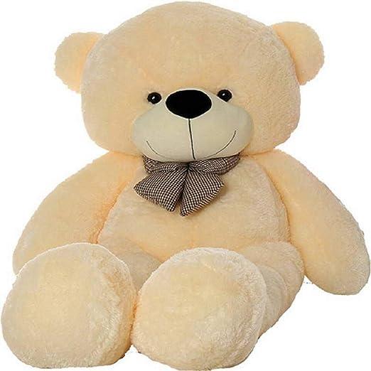 Click4Deal Soft Teddy Bear With Neck Bow - 4 Feet (122 Cm,Cream)