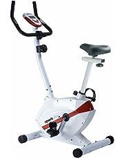 SportPlus SP-HT-2408-R - Vélo d'Appartement / Ergomètre - Ordinateur de Contrôle Multifonction - Système de Freinage Magnétique Haute Performance - 8 niveaux de Résistance - Masse Oscillante : environ 5kg