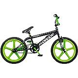 "Rooster Big Daddy BMX Freestyle Bike 20"" Skyway Mag Wheels, Black/Green"