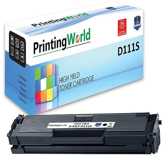 PrintingWorld Reemplazo para Samsung MLT-D111S Cartucho de tóner ...