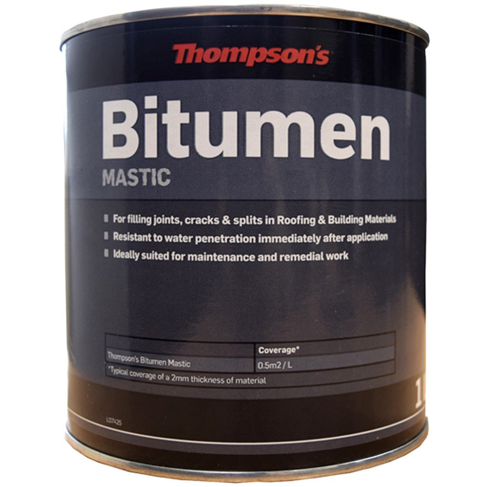 Thompsons Bitumen Mastic Black 1 Litre