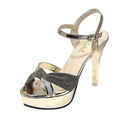 Paillettes Scarpe col Tacco Donna 2c00766a3ff
