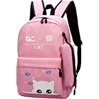 TYPIFY® 2 Pcs Set High Quality Preppy Style Women and Girls Backpack College Office Bag, Stylish latest Designer Spacious Bag Purse. Gift for Her