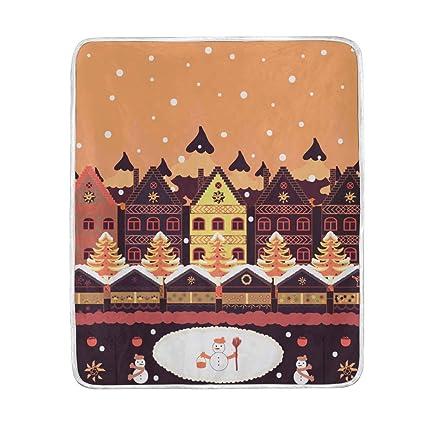 Amazon.com  U LIFE Christmas Year Winter Cute Snowflakes Throw ... e81ee609a2