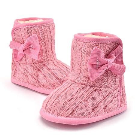 f010cbb38 Anqeeso - Botas de invierno para bebés recién nacidos y niñas rosa rosa  Talla 11cm