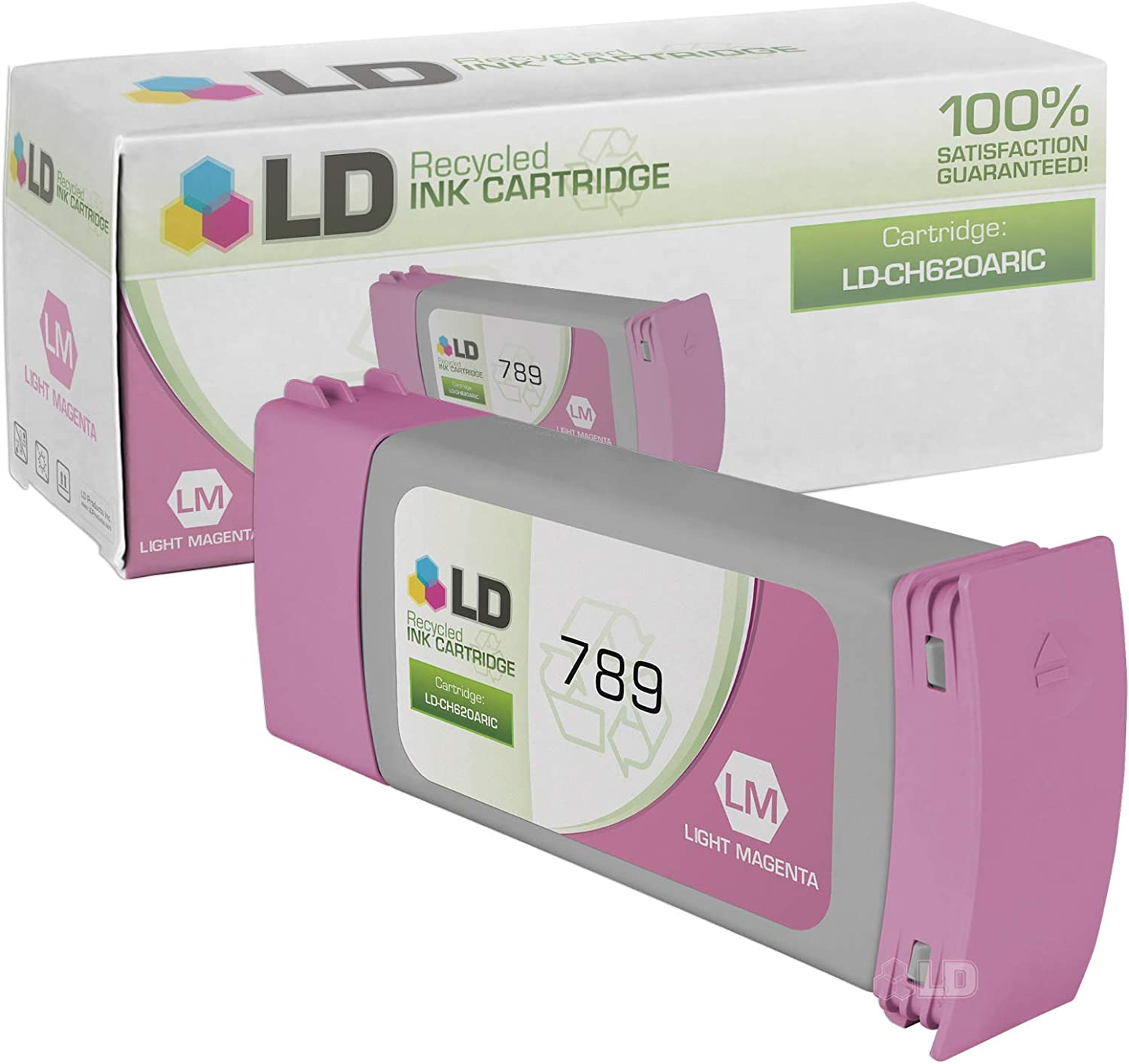 LD Remanufactured Ink Cartridge Replacement for HP 789 CH620A (Light Magenta)