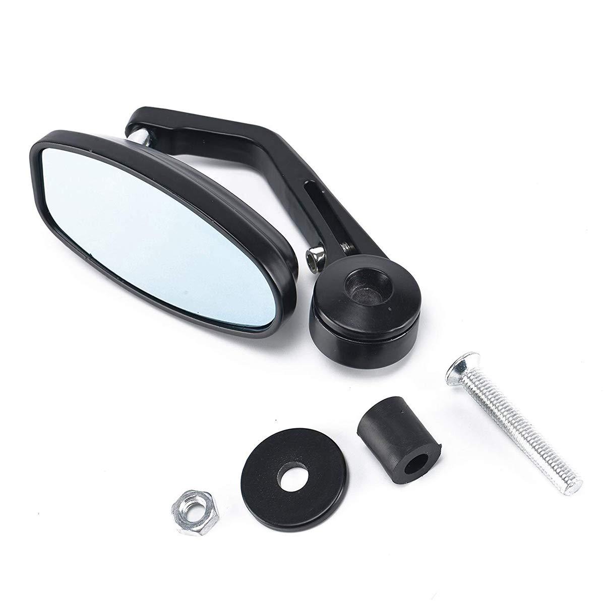 in Alluminio Winter Winner 2 specchietti retrovisori per Moto Colore: Nero con estremit/à del Manubrio