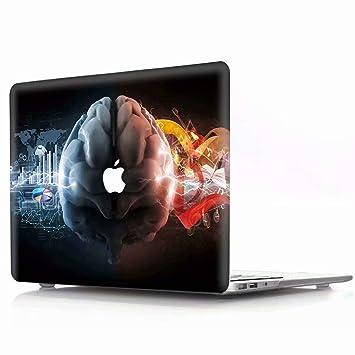 AQYLQ - Carcasa rígida para MacBook Air de 13 Pulgadas A1369/A1466 (plástico Mate, con 14 Flores y libélula) ZY-XG Glare Brain Macbook Pro 13 Retina ...