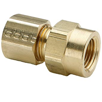 Brass 1//4 and 3//16 Parker 62C-4-3 Fitting Tube to Tube Compression Union