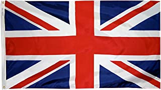 product image for Annin Flagmakers Model 198893 United Kingdom Flag 3x5 ft. Nylon SolarGuard Nyl-Glo 100% Made in USA to Official United Nations Design Specifications.