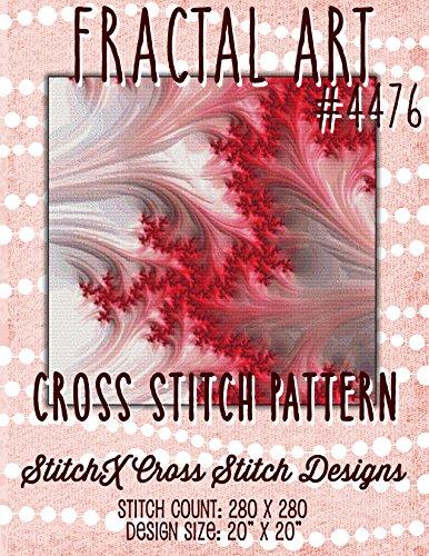 Black Fractal Pattern - Fractal 4476 Cross Stitch Pattern