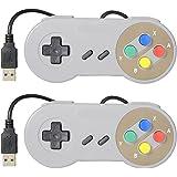 2 Joystick Joypad Gamepad Controle USB para Windows Linux USB MAC Emulador Znes Padrão SNES Super Nintendo Top