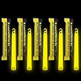 Lumistick 6 Inch Emergency Glow Sticks | 15mm Thick Flat Bottom Illuminating Light Sticks | Kids Safe, Waterproof & Non-Toxic Light Up Neon Sticks for Camping & Hiking