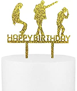 CaJaCa Happy Birthday Gold Cake Topper Michael Jackson Party