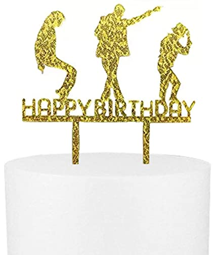 Image Unavailable Not Available For Color CaJaCa Happy Birthday Gold Cake Topper Michael Jackson