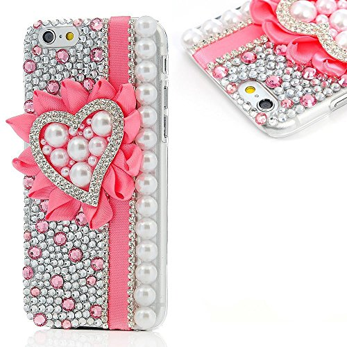 EVTECH(TM) für Iphone 5C Bling Glitter Diamant Schutzhülle/Transparent Hart Kunststoffe Hülle/strass Etui Schale/Plastik Handytasche/Schale case cover